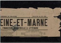CTN38 - SAGE 1c N°83 SUR GRAND FRAGMENT DE JOURNAL DU 26/6/1892 - 1876-1898 Sage (Type II)