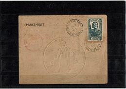 CTN38 - F.VILLON SUR PLI DU PARLEMENT OBL. CONGRES DE VERSAILLES 16/1/1947 - France