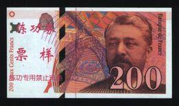 Billet Factices De 200 Francs Eiffel (lot N°605) - Specimen