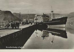 """Iceland. Cargoship """"Hekla"""" In Port. Isafjordur.  # 06463 - Iceland"""