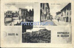 74201 ITALY COSTIGLIOLE ASTI  CASTLE STREET VITTORIO VENETO MULTI VIEW POSTAL POSTCARD - Unclassified