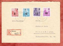 Einschreiben Reco, MiF Dresden Zwinger Aufdruck U.a., Wurzen Nach Hilden, AK-Stempel 1954 (39010) - Lettres & Documents