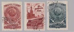 RUSSIE RUSSIA :    Y Et T   1037 à 1039     Michel   1008 à 1010   (o) - Oblitérés