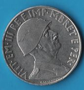 ALBANIA 1 Lek 1939 KM# 31 Victor-Emmanuel III  Occupation Italienne Magnétique - Albania