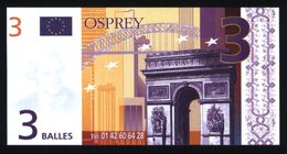 3 Balles OSPREY (lot N°615) - EURO