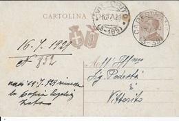 STORIA POSTALE REGNO - ANNULLO FRAZIONARIO CAPESTRANO(AQ) 3-39 + VITTORITO 3-185 (AQ) SU INTERO MICHETTI 16.07.1929 - 1900-44 Victor Emmanuel III