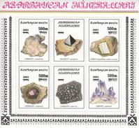2003 Azerbaijan Minerals Overprints Amethyst Gems Miniature Sheet Of  4 MNH - Minerali