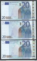 """Complete Sret (3 P.) Greece """"Y"""" 20  EURO GEM UNC! Duisenmberg/Trichet/Draghi Signatures! (For Printers See Description). - EURO"""