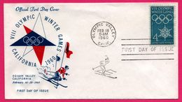 FDC - J.O. - VIII Winter Olympic Games - Ski - Squaw Valley California - 1960 - Winter 1960: Squaw Valley