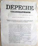 COMMUNE DE PARIS 4 MAI 1871 DEPECHE TELEGRAPHIQUE DE THIERS ANNONCANT LA CHUTE DU FORT D'ISSY ET LA FUITE DES COMMUNARDS - Documents