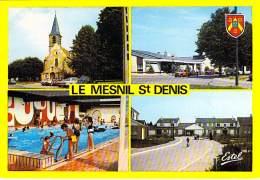 78 - LE MESNIL SAINT DENIS : Multivues ( Eglise Poste Piscine Champmesnil ) CPSM Grand Format - Yvelines - Le Mesnil Saint Denis