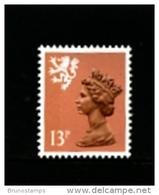 GREAT BRITAIN - 1984  SCOTLAND  13 P.  Type  II   PERF.  15 X 14  MINT NH - Regionali