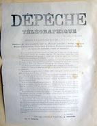 COMMUNE DE PARIS 9 MAI 1871 DEPECHE TELEGRAPHIQUE DE THIERS DECRIVANT LA PRISE DU FORT D'ISSY - Documents