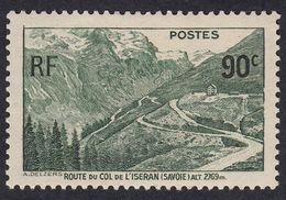 FRANCE Francia Frankreich - 1937 - Yvert 358 Nuovo Con Traccia Di Linguella, Strada Del Col De L'Iseran - France