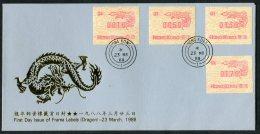 1988 Hong Kong, Year Of The Dragon FRAMA ATM First Day Cover / FDC - Hong Kong (...-1997)