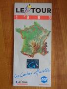 CARTE DEPLIANTE TOUR DE FRANCE 1993 - Cyclisme
