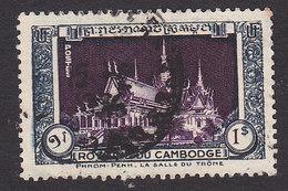 Cambodia, Scott #7, Used, Enthronement Hall, Issued 1951 - Cambodia