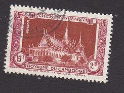 Cambodia, Scott #13, Used, Enthronement Hall, Issued 1951 - Cambodia