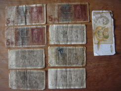 Lot 9 Billets : 8 X ALLEMAGNE DEUTSCHLAND GERMANY - 3 X 5 Reichsmark / 5 X 1 Rentenmark ///// 1 X JUGOSLAVIJA 100 Dinara - [ 4] 1933-1945 : Terzo  Reich