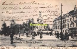 CPA BRUXELLES  FONTAINE DE BROUCKERE - Places, Squares