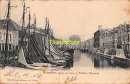 CPA BRUXELLES  QUAI  AU FOIN ET THEATRE FLAMAND - Maritime