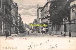 CPA  BRUXELLES  RUE DE LA REGENCE - Avenues, Boulevards