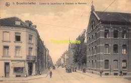 CPA  BRUXELLES IXELLES COUVENT DU SACRE COEUR ET CHAUSSEE DE WATERLOO - Avenues, Boulevards
