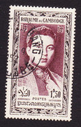 Cambodia, Scott #9, King Norodom Sihanouk, Issued 1951 - Cambodge