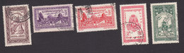 Cambodia, Scott #22, 24-27, Used, Phnom Daun Penh, East Gate Angkor, Arms, Elephant, Issued 1954 - Cambodja