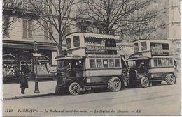 PARIS 4EME (75) - TRANSPORT - BELLE CPA ANIMEE, ECRITE ET VOYAGEE - Nahverkehr, Oberirdisch