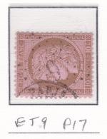 Etoile 9 P17 Sur 54 - Marcophilie (Timbres Détachés)