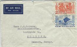 New Hebrides. Cover Sent To Denmark  1954. Postmark Santo.  H-1134 - New Hebrides