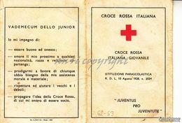"""TESSERA_1962/63 """"CROCE ROSSA ITALIANA GIOVANILE-ISTITUZIONE PARASCOLASTICA- DI PIETRA LIGURE_ORIGINALE 100% - Pubblicitari"""