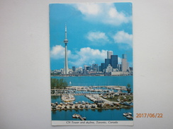 Postcard CN Tower And Skyline Toronto Canada Postally Use 1977 My Ref B21389 - Toronto