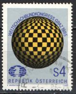 AUSTRIA - 1985 - CONGRESSO DELLA FEDERAZIONE INTERNAZIONALE DEGLI SCACCHISTI A GRAZ - USATO - 1981-90 Gebraucht
