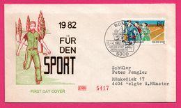 FDC - Athlétisme - Course à Pied - Bonn - Für Den Sport - 1982 - ETABO 5417 - [5] Berlin