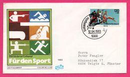 FDC - Für Den Sport - Escrime - Natation - Équitation - Athlétisme - Bonn 1983 - FIDACO - 120+60 - Erstaagsbrief - Sellos
