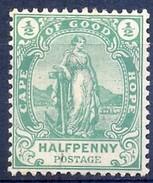 Cape Of Good Hope 1893. ½d Standing Hope. SACC 53*, SG 58*. - Südafrika (...-1961)