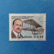 2003 ITALIA FRANCOBOLLO USATO STAMP USED - PIONIERI AVIAZIONE MARCHETTI - - 6. 1946-.. Repubblica