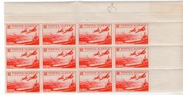 Colonies Françaises Et Protectorats (ALGERIE) - 1949 - Bloc De 12 Du N° 274 - 18 F. + 22 F. Rouge - Algeria (1924-1962)