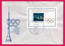 FDC - Bloc Timbre - J.O. - Voile - Berlin - Spiele Der XXII Olympiade 1980 - FDC: Briefe