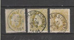 COB 32 Oblitéré Anvers + Bassins + Station - 1869-1883 Léopold II