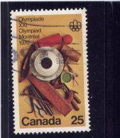 CANADA 1975 USED # 685, OLYMPIC ARTS & CULTURE: Handcrafts - 1952-.... Règne D'Elizabeth II