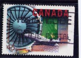 CANADA 1996 USED # 1596,  HIGH TRCKNOLOGY INDUSTRIES:  Aerospace,  Plane, Turbine - Oblitérés