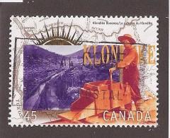 CANADA   USED # 1606e, YUKON GOLD RUSH :WORKING THE GOLD CLAIMS - 1952-.... Règne D'Elizabeth II