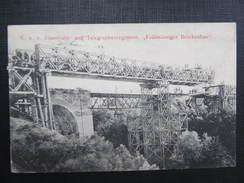 AK KORNEUBURG Feldmässiger Brückenbau 1908 //// D*24968 - Korneuburg