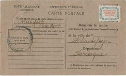 CTN38 -  TIMBRE DE SERVCE SUR FORMULAIRE MAIRIE DE ROCHEFORT 30/7/1946 - Lettres & Documents