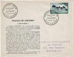 CTN38 -  FDC CHÂTEAU DE CHEVERNY 19/6/1954 - FDC