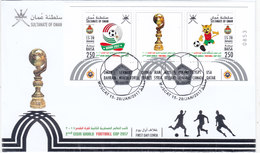 Oman New Issue 2017, Cism World Cup Foot-Ball Issued In Soub.shet Only On FDC Compl.noice Topical Sport- SKRILL PAY.ONLY - Oman