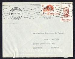 1953  Lettre Avion  De Tananarive  Pour La France  Yv 313, 315 - Madagascar (1889-1960)